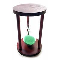 Часы песочные 15 мин зеленый песок (14,5х9х9 см)
