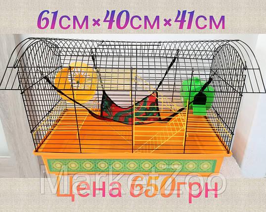 """Клетка для крысы """"Биг вагон""""+домик и гамак, фото 2"""
