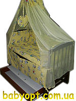 """Постельный комплект в детскую кроватку """"Далматинцы"""" желтый 8 элементов, фото 1"""