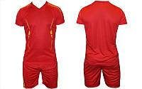 Футбольная форма подростковая размер S (44), красная, без номера