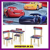Детский деревянный столик и 2 стульчика Тачки Cars, 501-52
