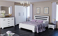 Спальный гарнитур Элен 140x200 белый супер мат + дуб шато