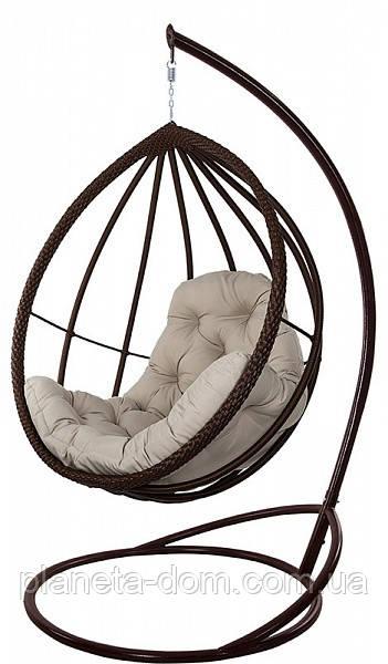 """Підвісне крісло-кокон """"Хелена"""" коричневе"""