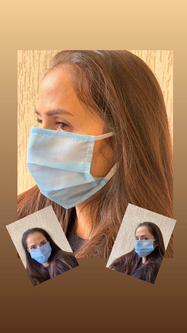 Защитная маска для лица . Плотная. Хорошего качества. 1 шт