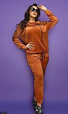 Костюм спортивный женский велюровый размеры 48-62, фото 2