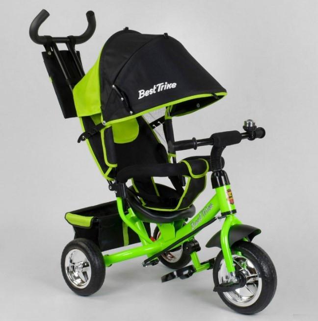Велосипед трехколесный детский с родительской ручкой капюшоном колеса пена Best Trike 6588-13-260