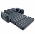 Надувний диван-трансформер навантаження до 200 кг зручний Intex 66552 (розмір 203 х 224 х 66 см), фото 4