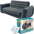Надувний диван-трансформер навантаження до 200 кг зручний Intex 66552 (розмір 203 х 224 х 66 см), фото 3