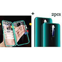 Bakeey Green Двухстороннее закаленное стекло Магнитная адсорбция Защитная Чехол + 2PCS Soft Закаленное стекло Телефон Объектив Протектор для Xiaomi