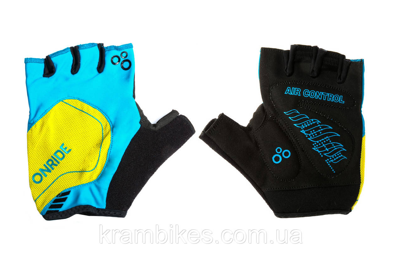 Перчатки OnRide - Catch Синий/Жёлтый L