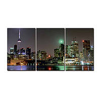 """Модульная картина на холсте """"Торонто"""" 190х90см, фото 1"""
