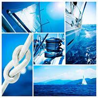 Фотообои 3Д парусник в море разные текстуры , индивидуальный размер