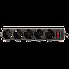 Мережевий фільтр LogicPower LP-X5 Premium, 5m, 5 розеток,16А, black (3520Вт), фото 3