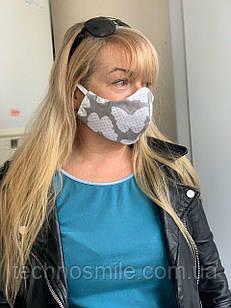 Маска для лица многоразовая защитная из натуральной ткани, маска медицинская из ткани