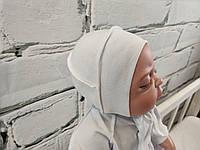 Чепчик интерлок для новорожденных, молочный, фото 1
