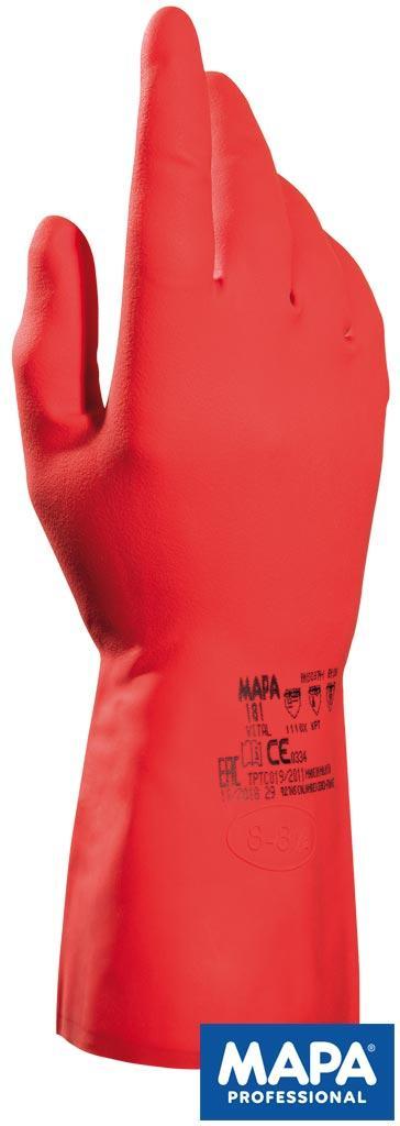 Рабочие перчатки покрытые латексом с нитрилом (перчатки защитные) RVITAL181 C