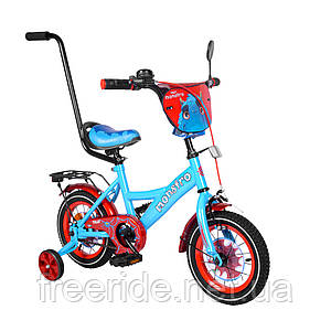 Детский велосипед TILLY Monstro 12 T-21228 blue + red