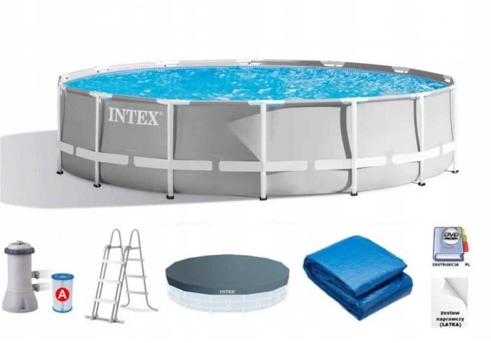 Каркасний басейн IINTEX 26724 Ultra Frame Pool (457x107 див.) + насос-фільтр
