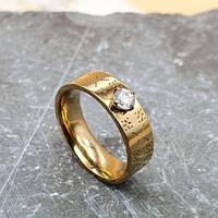 Модное кольцо из медицинского золота Ардель 6 мм 175433