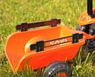 Детский педальный трактор с прицепом и ковшом Falk 2065AM Kubota для детей, фото 3