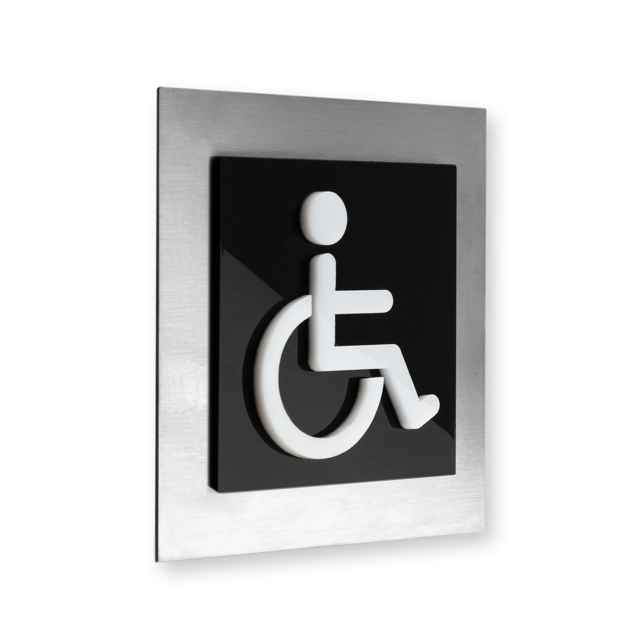 Табличка на туалет для людей с ограниченными возможностями