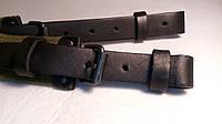 Ремень ружейный брезентовый, с чёрными ремешками (лента ЛРТ) 110 см, фото 1