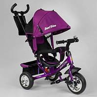 Велосипед трехколесный детский с родительской ручкой капюшоном колеса пена Best Trike 6588-19-109