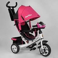Велосипед трехколесный детский с родительской ручкой капюшоном колеса пена Best Trike 6588-22-815