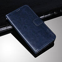 Чехол Idewei для Motorola Moto E5 Plus (XT1924-1) книжка с визитницей темно-синий