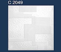 Плита потолочная белая C2049. Потолок пенополистирол.