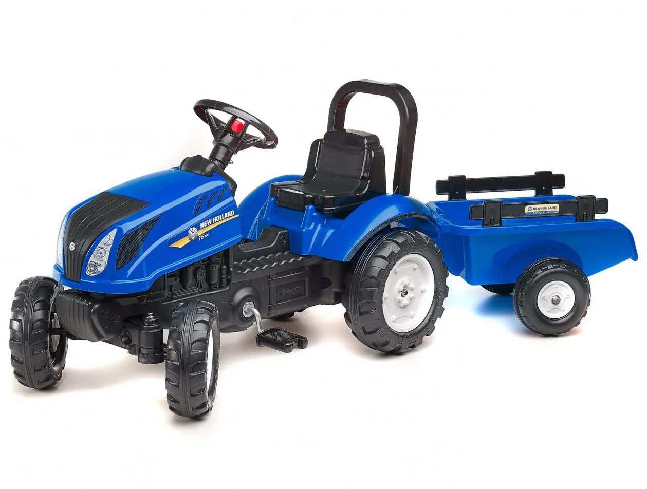 Детский педальный трактор с прицепом Falk 3080AB New Holland для детей