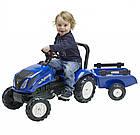 Детский педальный трактор с прицепом Falk 3080AB New Holland для детей, фото 2