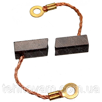Щетки меднографитовые 6х6х14 кольцо выход сбоку (пара)