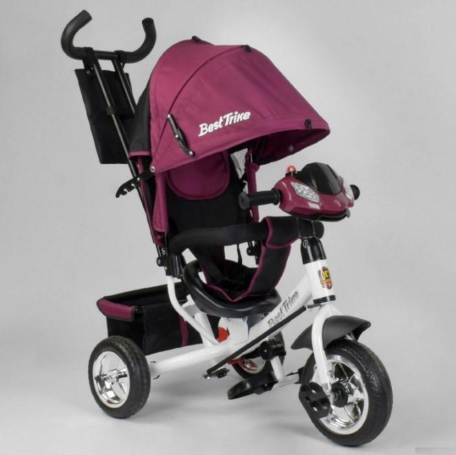 Велосипед трехколесный детский с родительской ручкой капюшоном колеса пена Best Trike 6588-28-549
