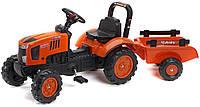 Детский педальный трактор с прицепом Falk 2065AB KUBOTA M7171 для детей, фото 1