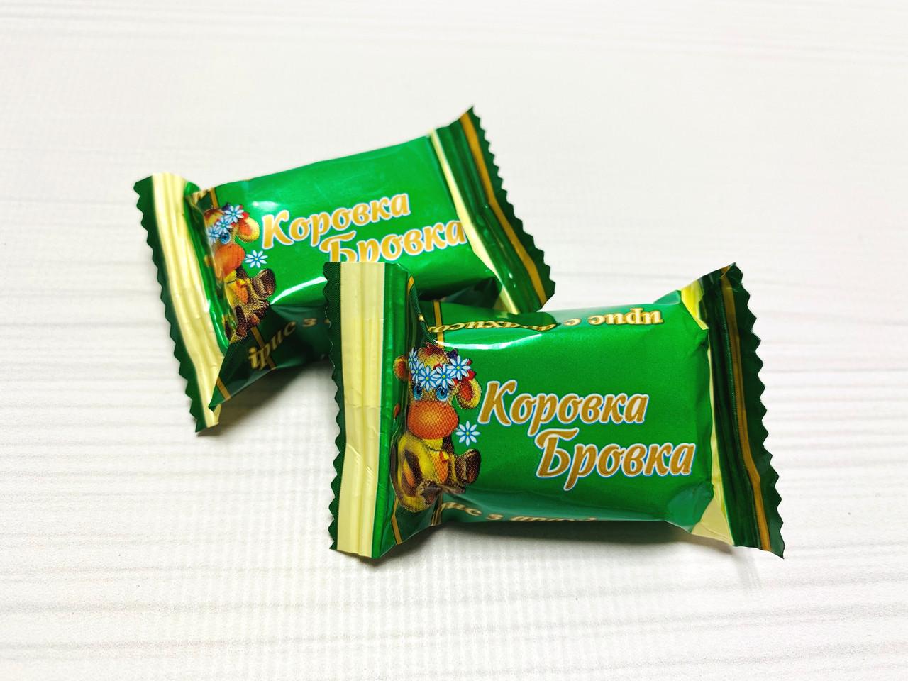 Цукерки ірис з арахісом Корівка Бровка 2кг ТМ Балу