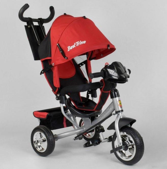 Велосипед трехколесный детский с родительской ручкой капюшоном колеса пена Best Trike 6588-24-545