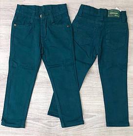 Весенние брюки для мальчика зелёного цвета