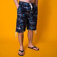 Пляжные мужские бриджи / темно синие. Лето 2020. Код LS010