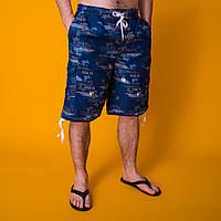 Пляжные мужские бриджи синие. Лето 2020. Код LS010