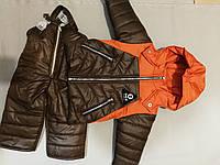 Детский демисезонный костюм курточка+комбез на байке для мальчика до 1 года, фото 1