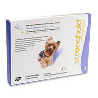 Stronghold 12% для собак вагою 2,5-5 кг 0,25 мл 3 піпетки,(упак)