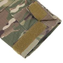 Тактическая рубашка Lesko A655 Camouflage XXL (38 р.) мужская милитари с длинным рукавом камуфляж армейская, фото 3