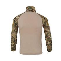 Тактическая рубашка Lesko A655 Camouflage 3XL (40 р.) мужская милитари с длинным рукавом камуфляж армейская, фото 2