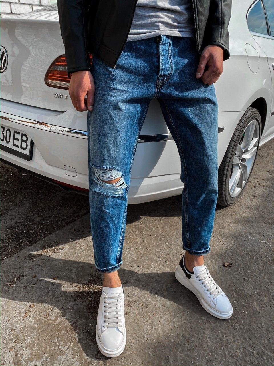 Мужские джинсы МОМ светло-синие 2Y Premium 4477-4