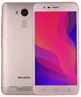 "Смартфон Sharp R1 3/32GB Gold, 13/8Мп, 5.2"" IPS, 2SIM, 4G, 4000мАh, 4 ядер, MT6737"
