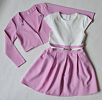 Детское платье с болеро пиджаком на девочку 128 размер лиловый