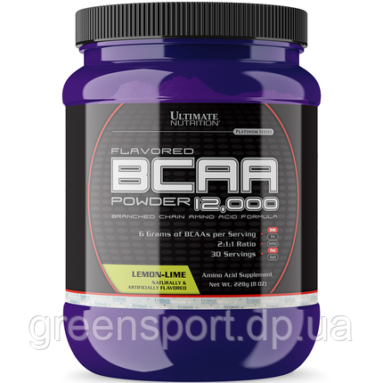 BCAA аминокислоты Ultimate Flavored BCAA 12000 Powder 228 г Лимонный лайм