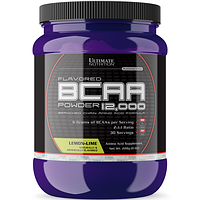 BCAA аминокислоты Ultimate Flavored BCAA 12000 Powder 228 г Лимонный лайм, фото 1