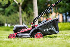 Аккумуляторная газонокосилка с мешком для травы Worcraft CLM-S40Li без АКБ и ЗУ, фото 2